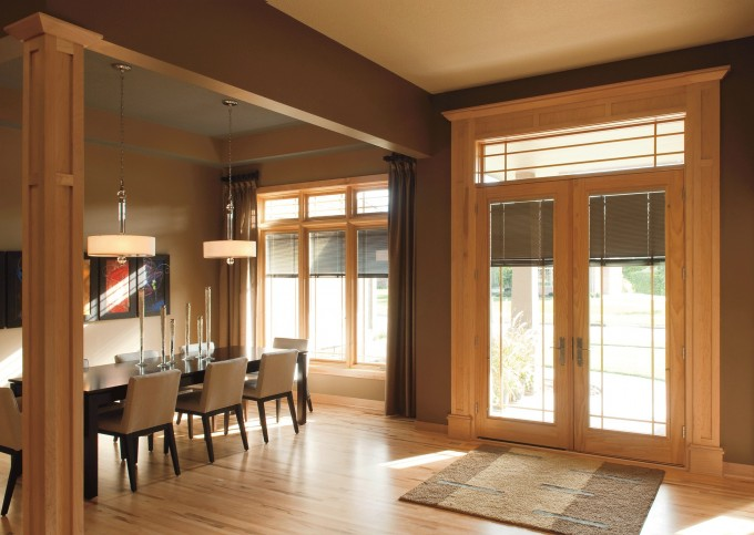 Pella Windows And Glass Doors Plus Dining Table Plus Chandelier For Dining Room Ideas