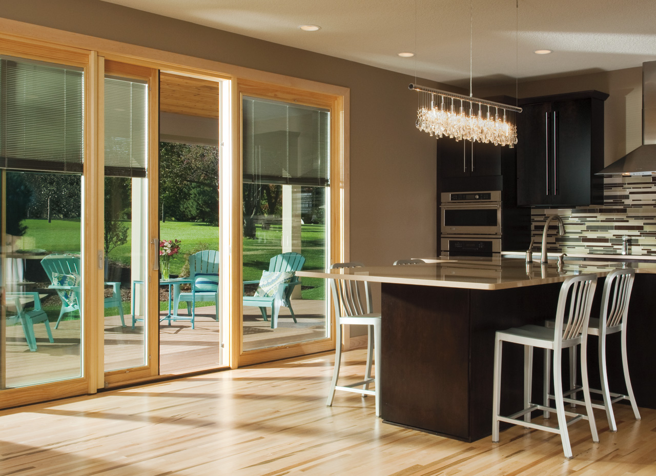 pella windows matched with tan wall plus wooden floor ideas