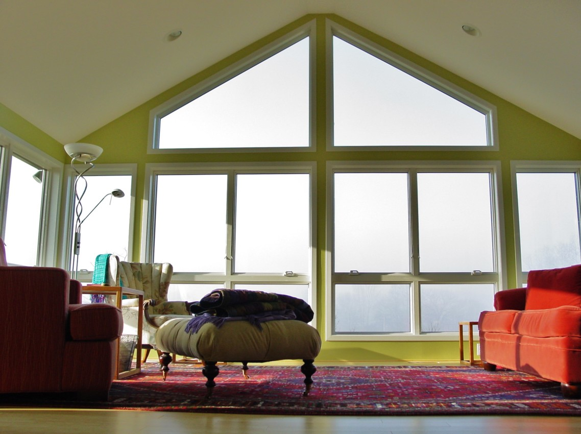 Pella Windows Sunroom Addition In Dexter plus sofa set and carpet for family room decor ideas