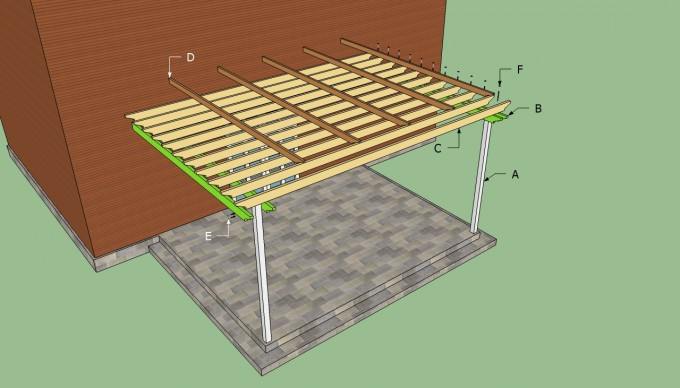 Pergola Plans With Brown Wall And Grey Floor For Inspiring Backyard Ideas