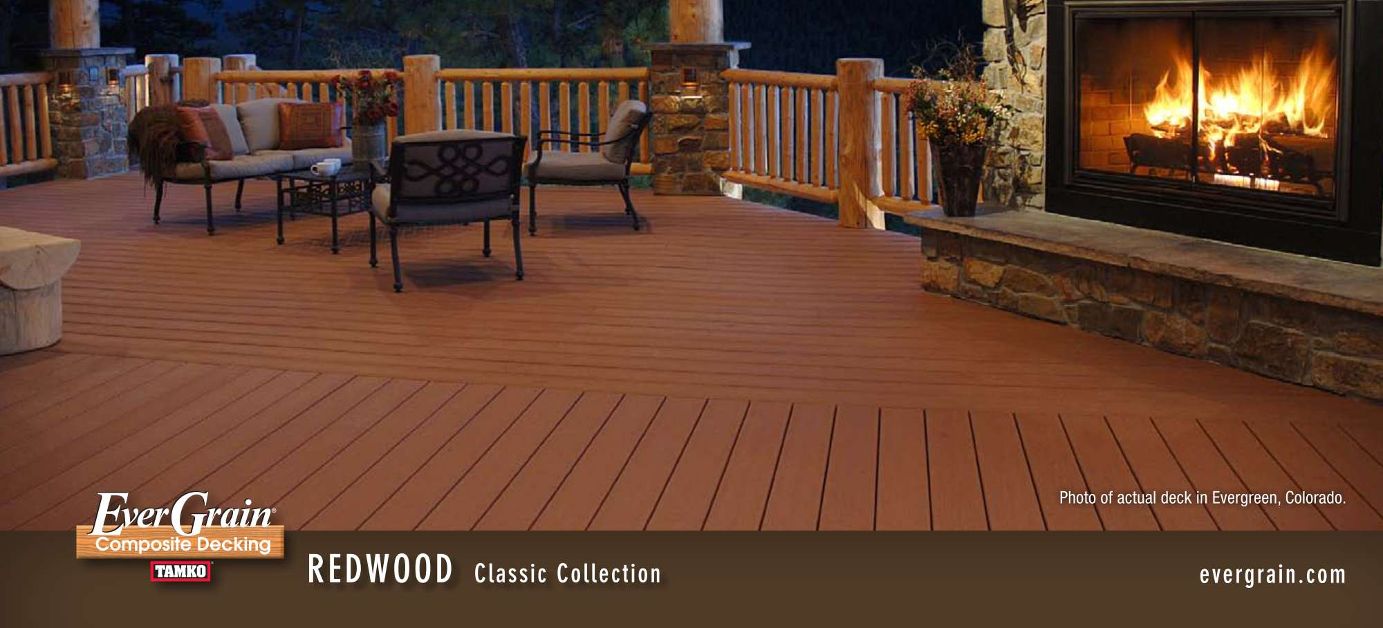 peru evergrain decking matched with mocca railing plus sofa set ideas