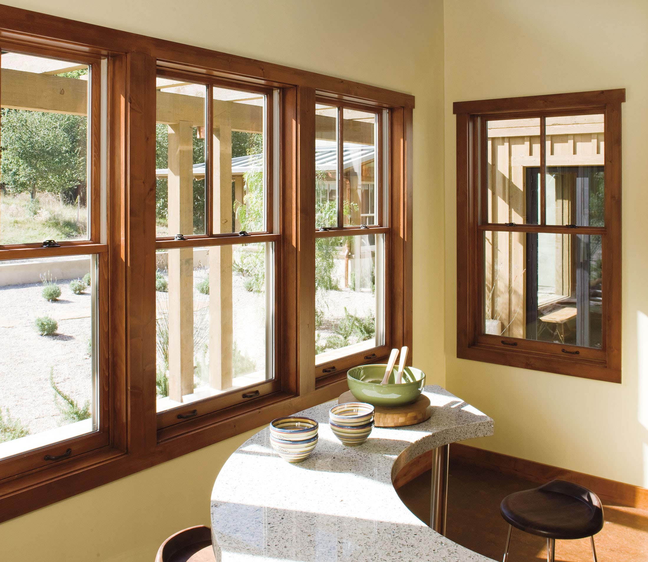 peru pella windows matched white wall plus bar table and wooden floor ideas
