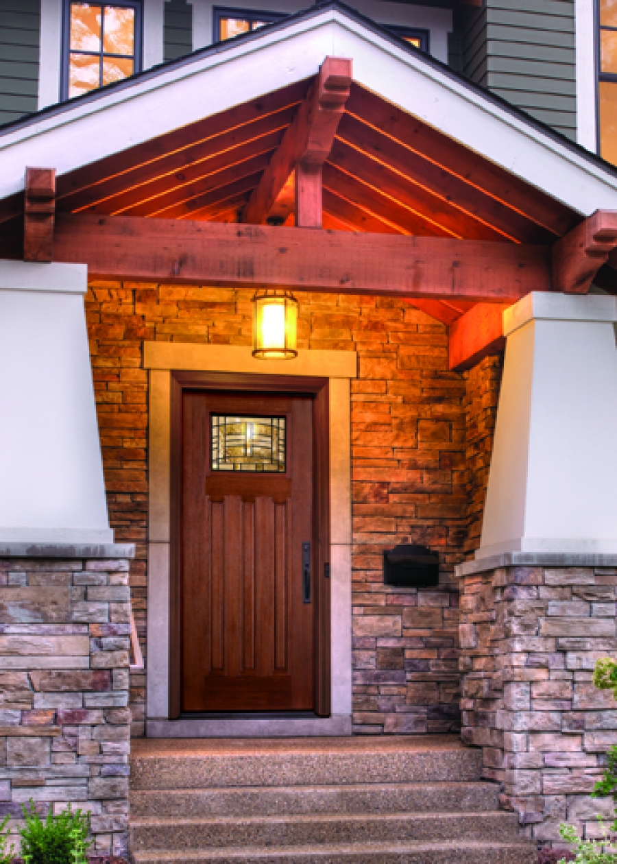 Great Therma Tru Entry Doors For Door Inspiration: Peru Therma Tru Entry Doors Matched With Brick Wall Plus Single Chandelier Ideas