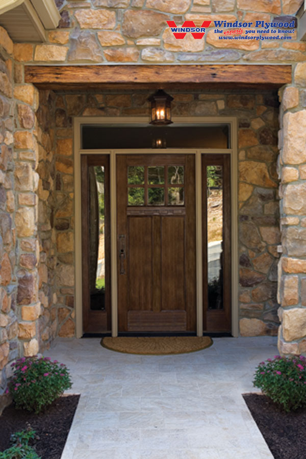 peru therma tru entry doors matched with natural stone wall ideas
