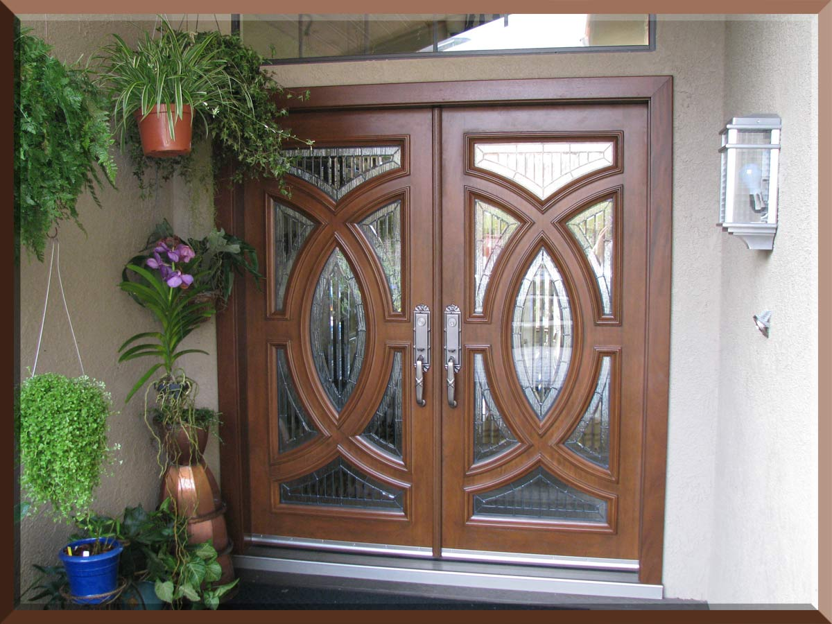 peru therma tru entry doors with silver handlecet handle matched with wheat wall plus flower ideas