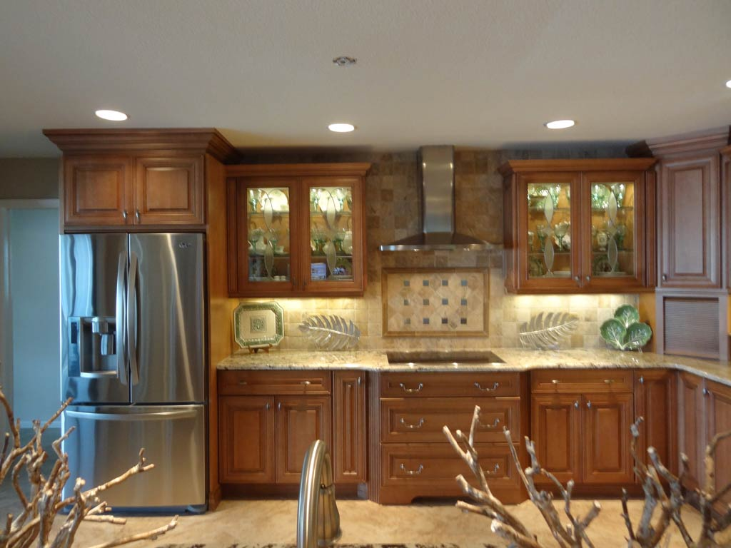 peru Thomasville Cabinets with oven and fridge for kitchen decor ideas