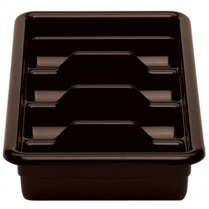 Plastic Utensil Caddy In Brown And Modern Design