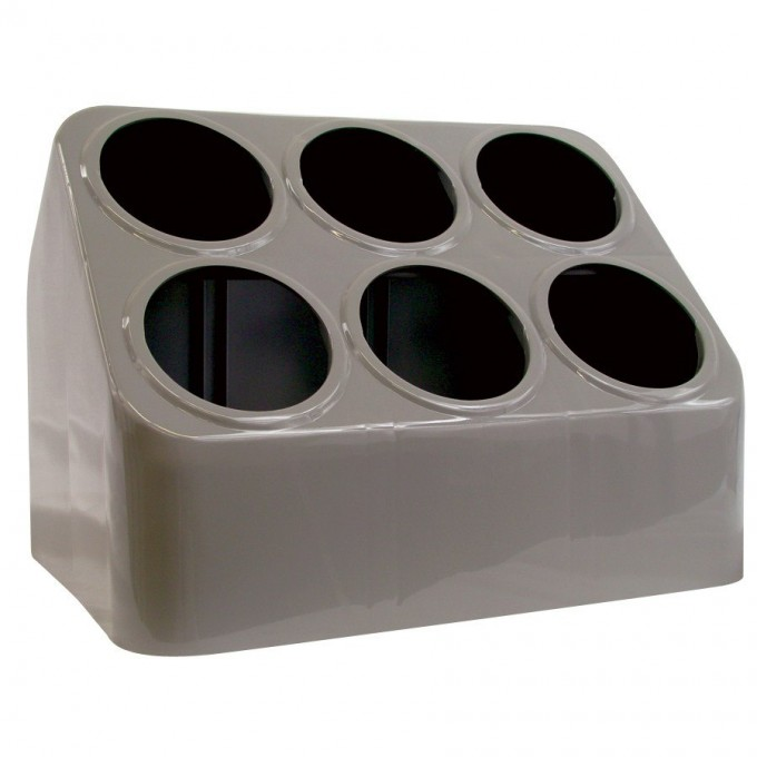 Plastic Utensil Caddy In Grey And Stylish Design