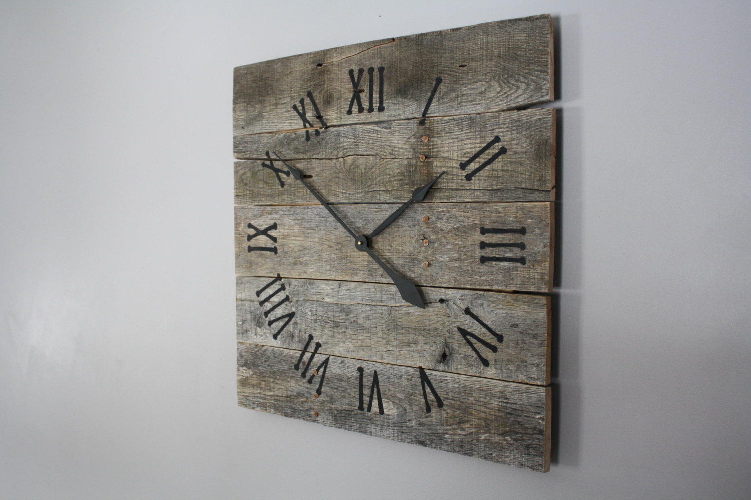 Popular items for wooden oversized wall clock on Etsy