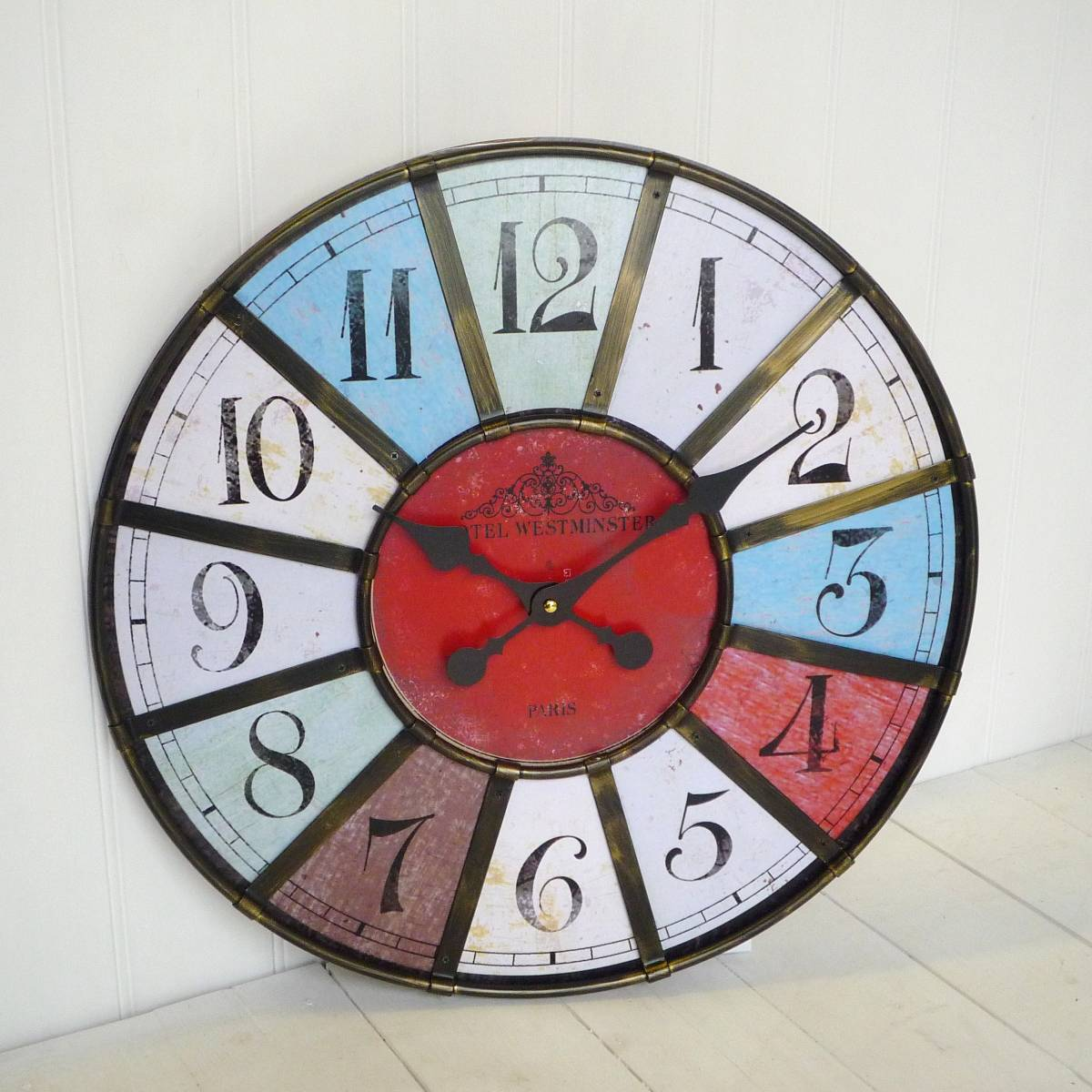 recommended large oversized wall clock in multicolor for Home Design Equipments