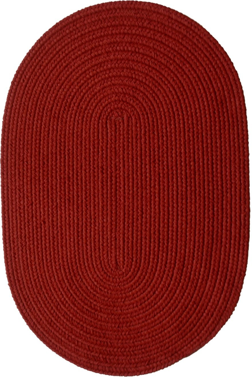 Rhody Rug Solid Brilliant Red Braided Rugs for charming floor decor ideas