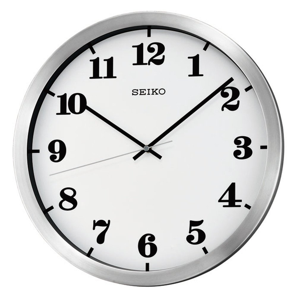 round white oversized wall clock with black numerals ideas