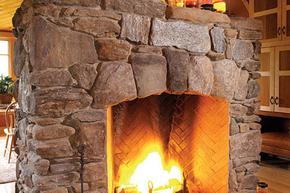 Rumford Fireplace with natural stone mantel kit ideas