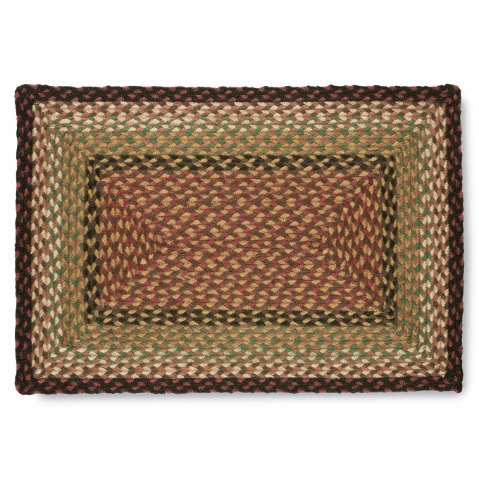 Rustic Jute Braided Rugs In Multicolor And Rectangle Design Ideas