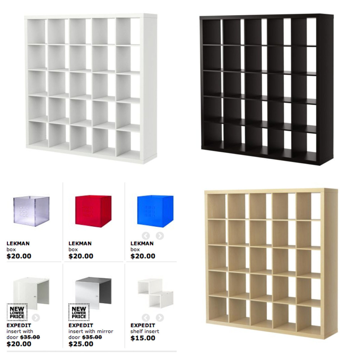 sample of ikea expedit bookcase for smart furniture ideas