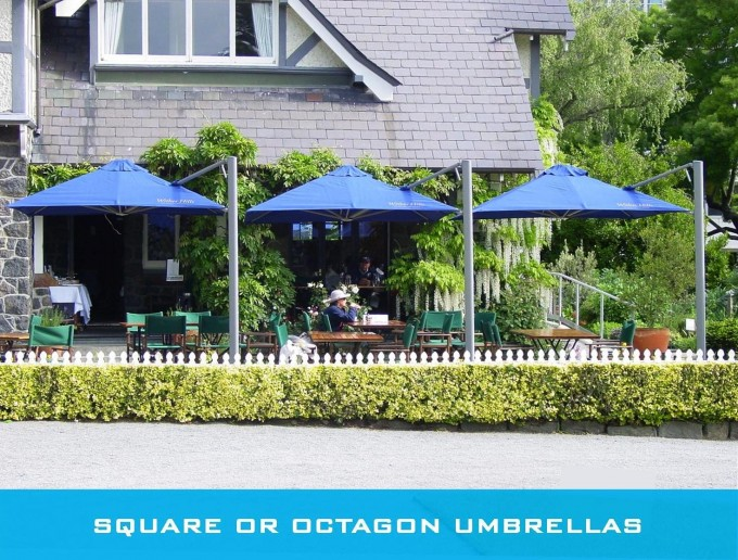 Shadowspec SU7 Rotating Cantilever Umbrella In Blue For Patio Ideas