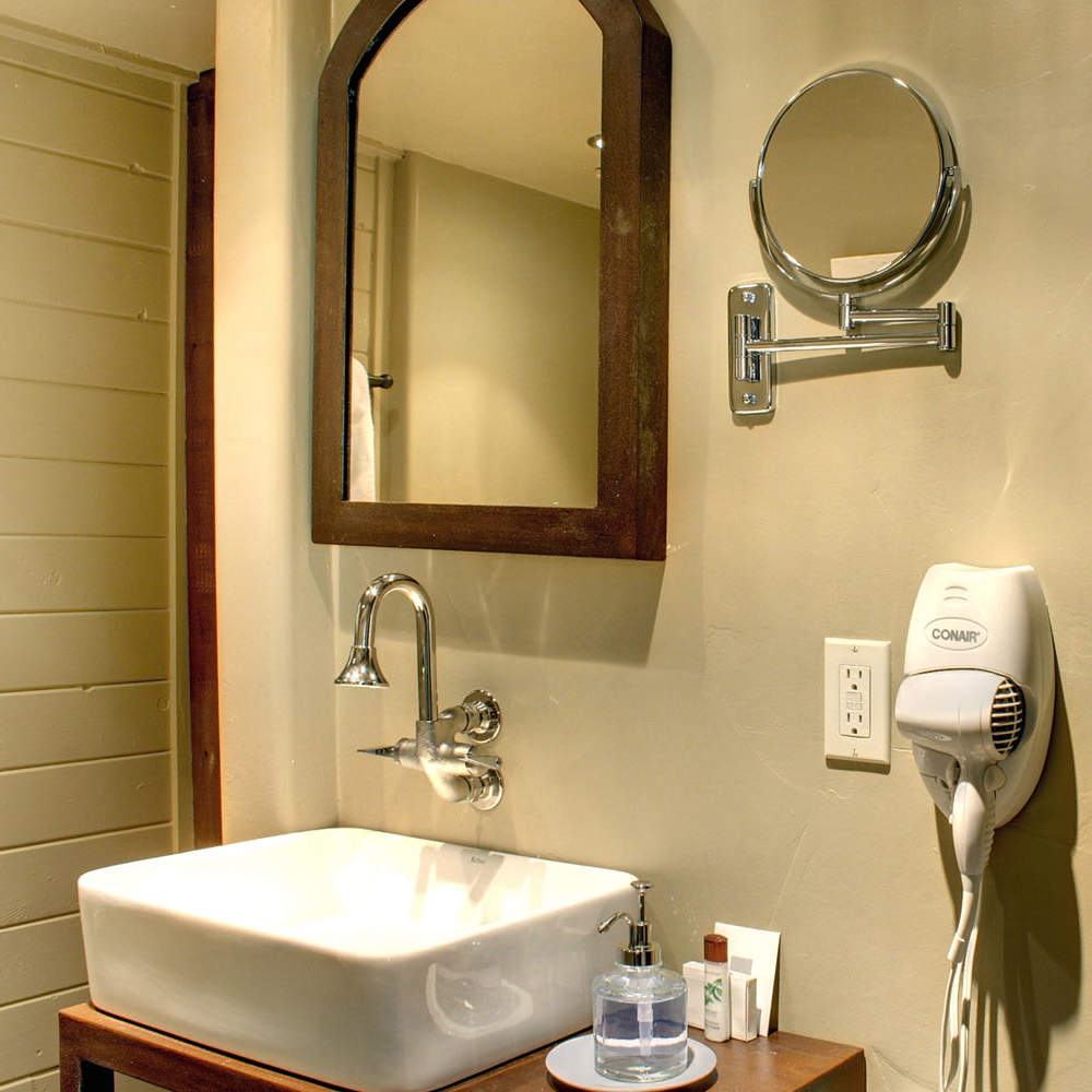 silver faucet direct on whaet wall plus white sink and mirror for bathroom ideas - Bathroom Sink And Mirror