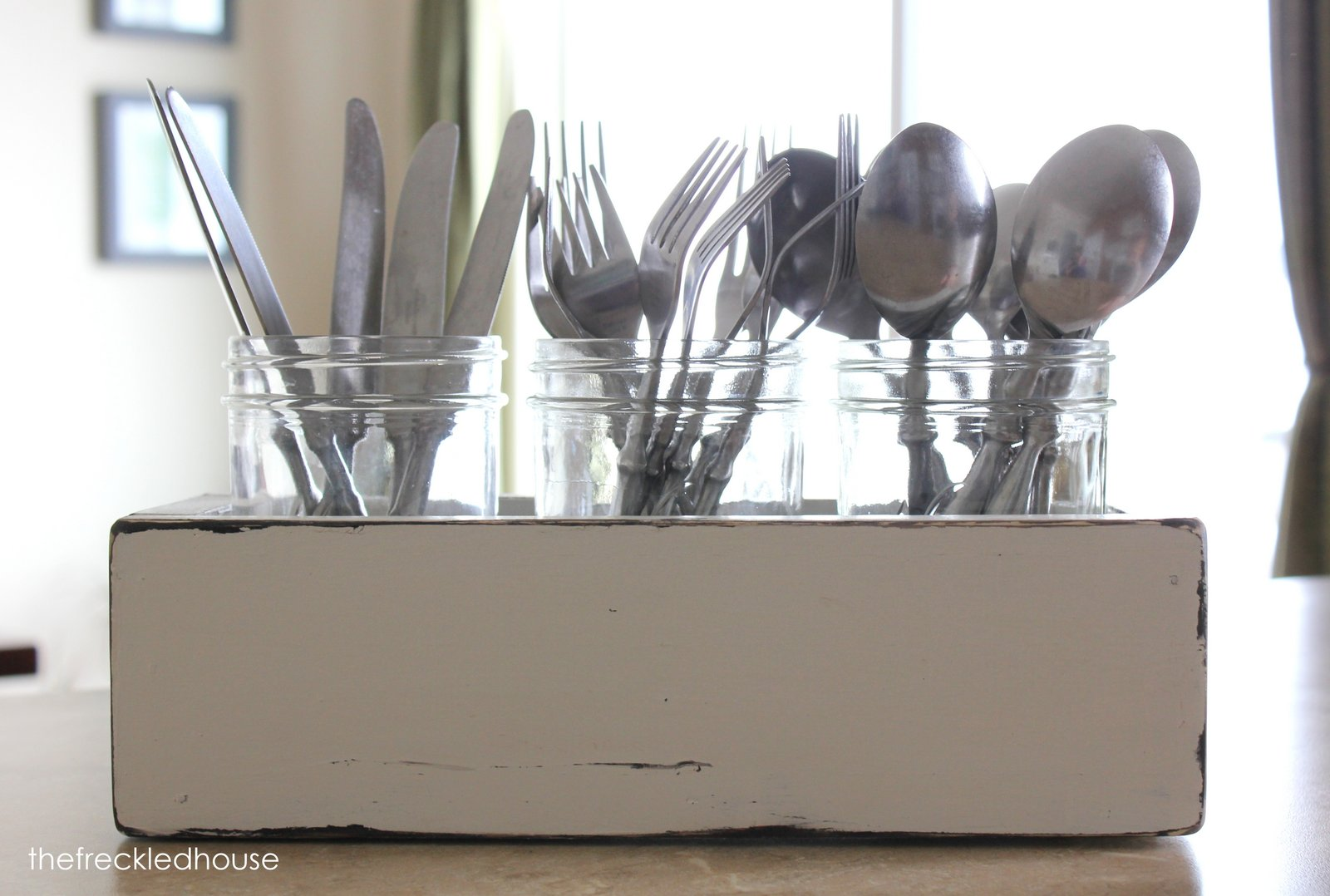 Silverware utensil caddy for utensil storage ideas