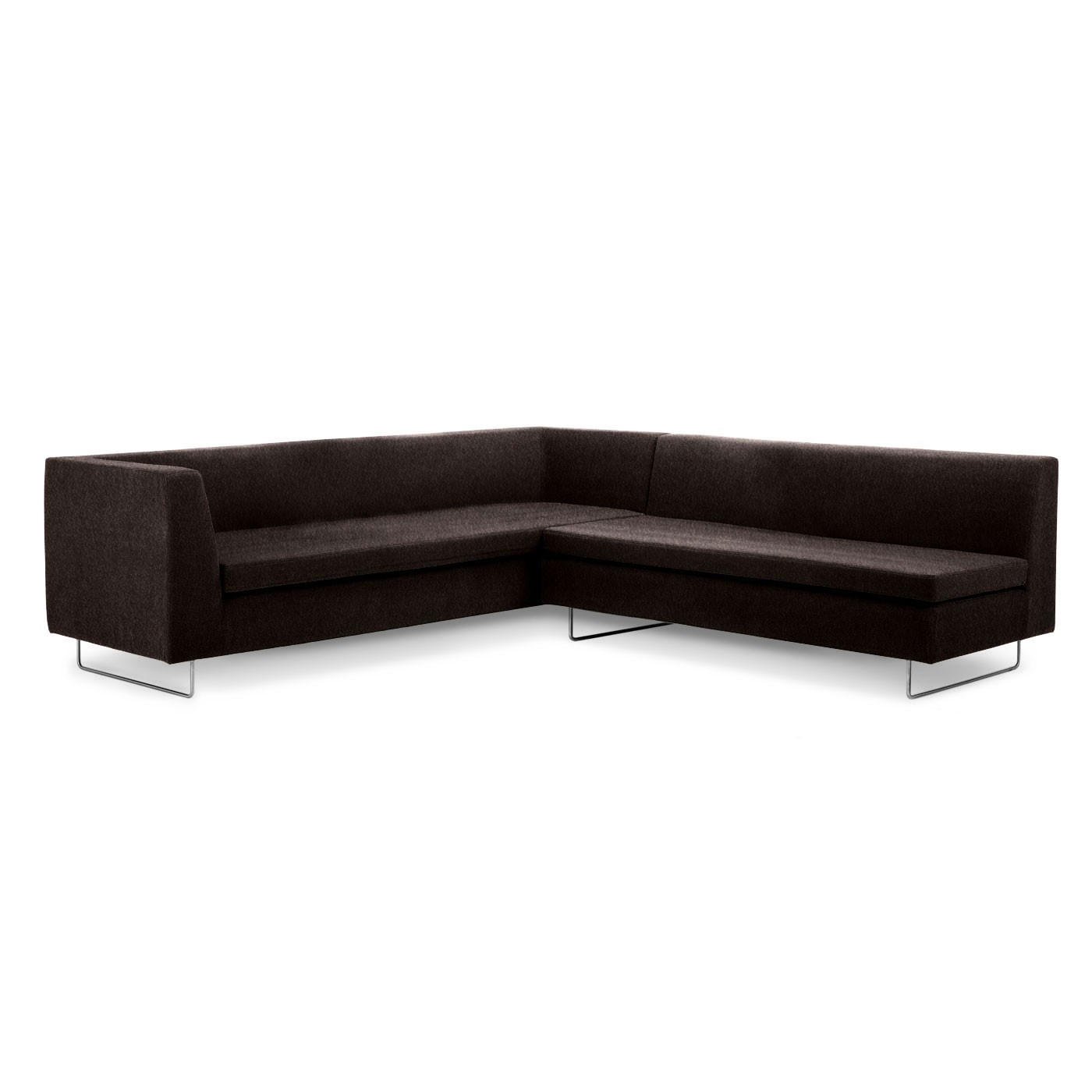 simple and elegant sectional Couches in dark brown for inspiring furniture ideas
