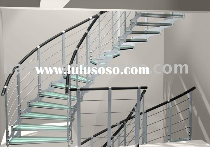 Stainless Steel Handrails For Stairs In Black With Spiral Stair Ideas With White Wall