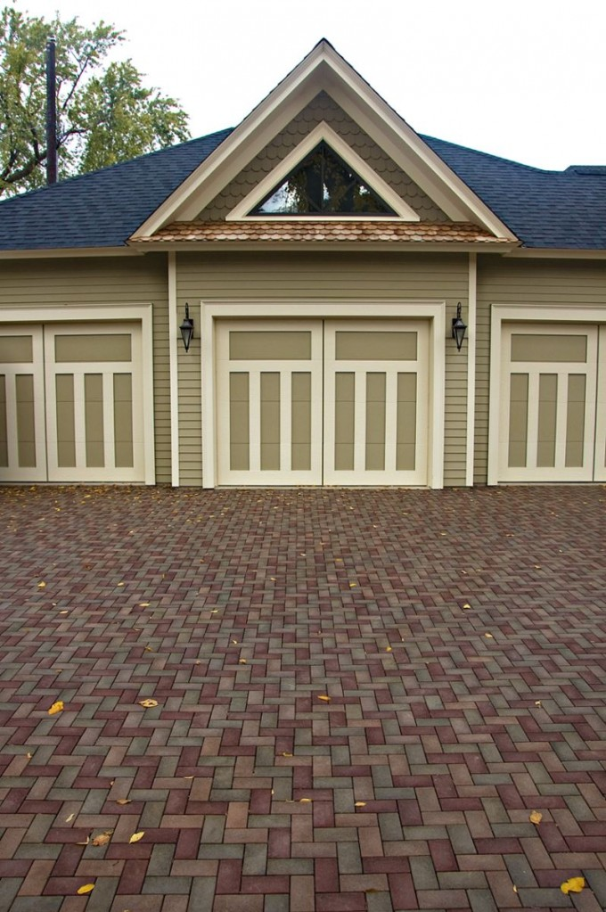 Standard Azek Pavers Landscape Matched With Darkseagreen Wall Plus Light For Exterior Design Ideas