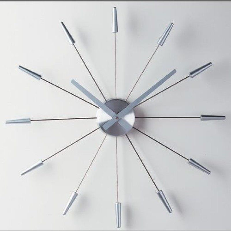 Stunning Silver Starburst Wall Decor Also As A Clock For Wall Accessories Ideas