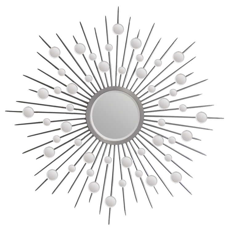 stunning slver Starburst Wall Decor with mirror for wall accessories ideas