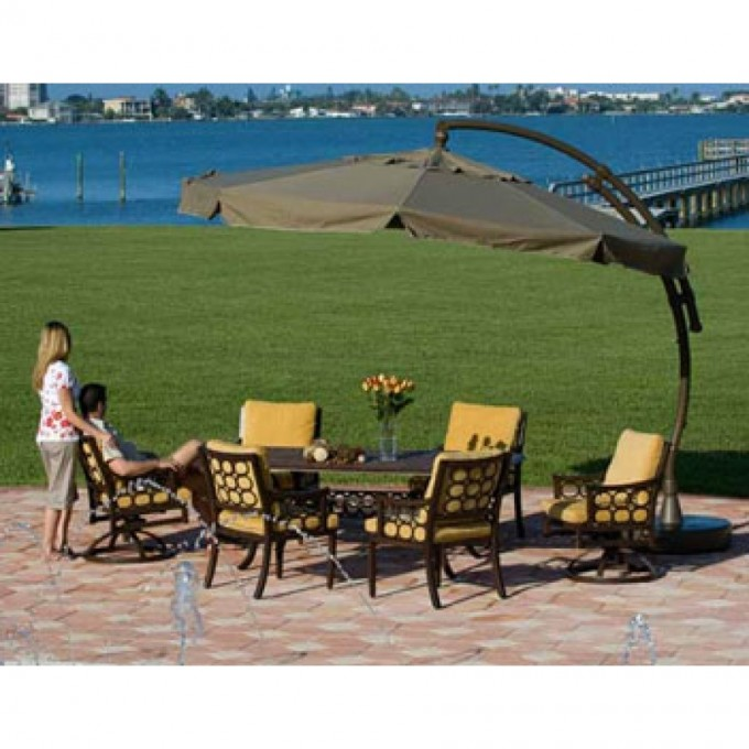 Sun Garden Cantilever Umbrella With Sofa Set For Inspiring Patio Ideas