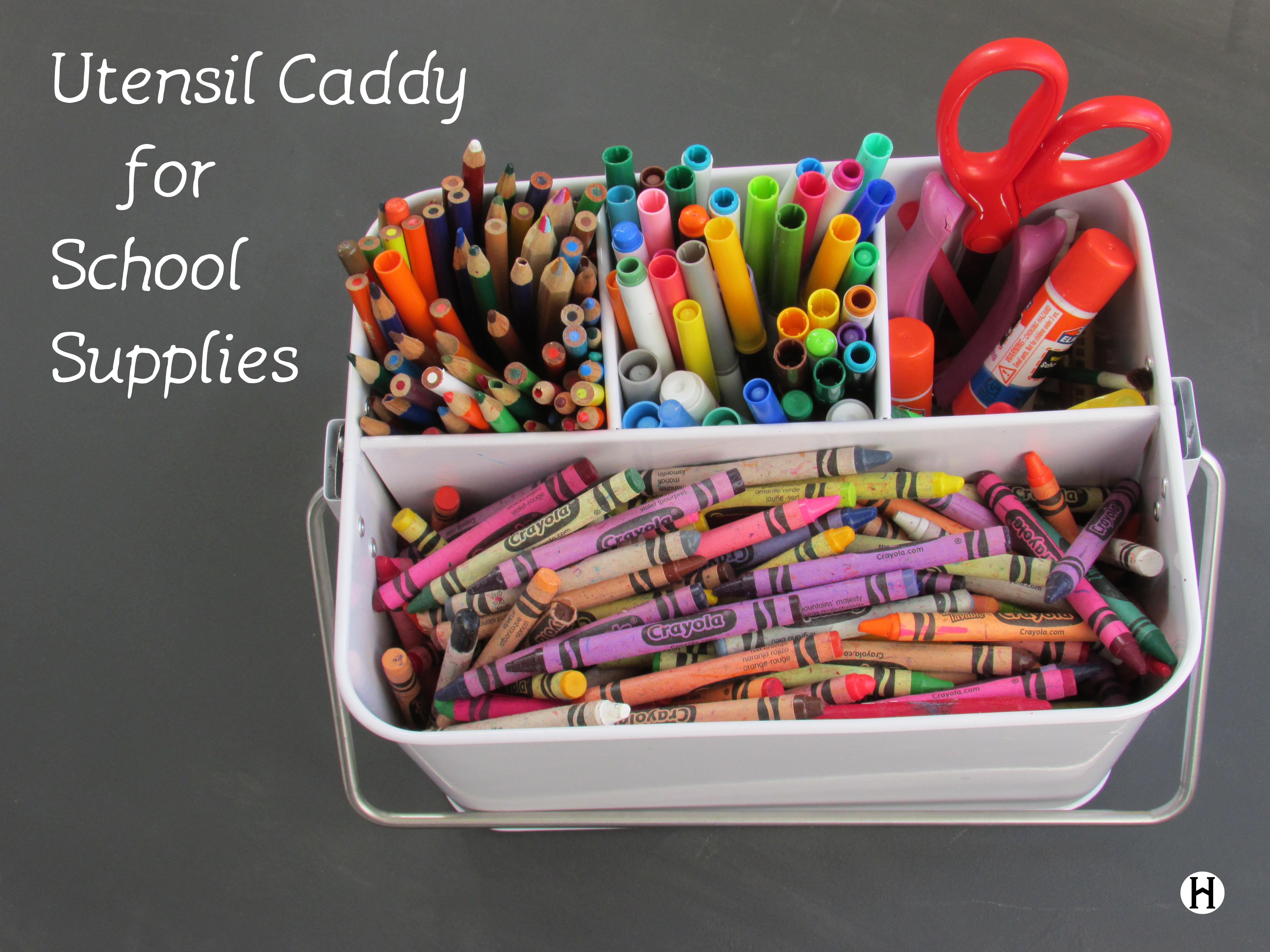 Super Simple Tip Utensil Caddy for School Supplies