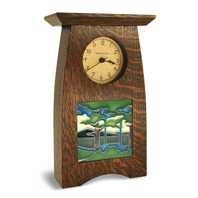 Table Clock With Motawi Tile Forest Ideas