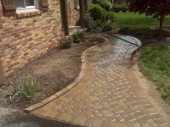 Tan Azek Pavers For Track Ideas