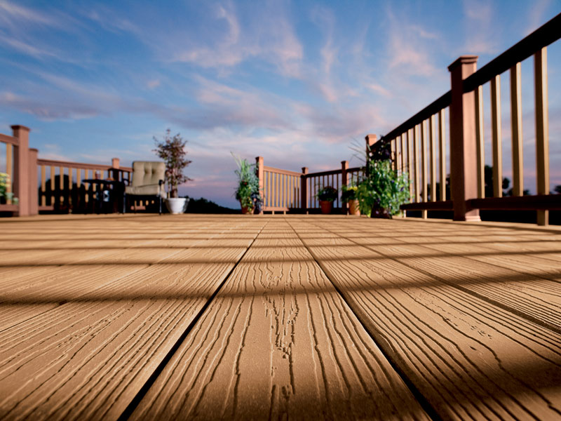tan EverGrain Decking plus railing for patio ideas