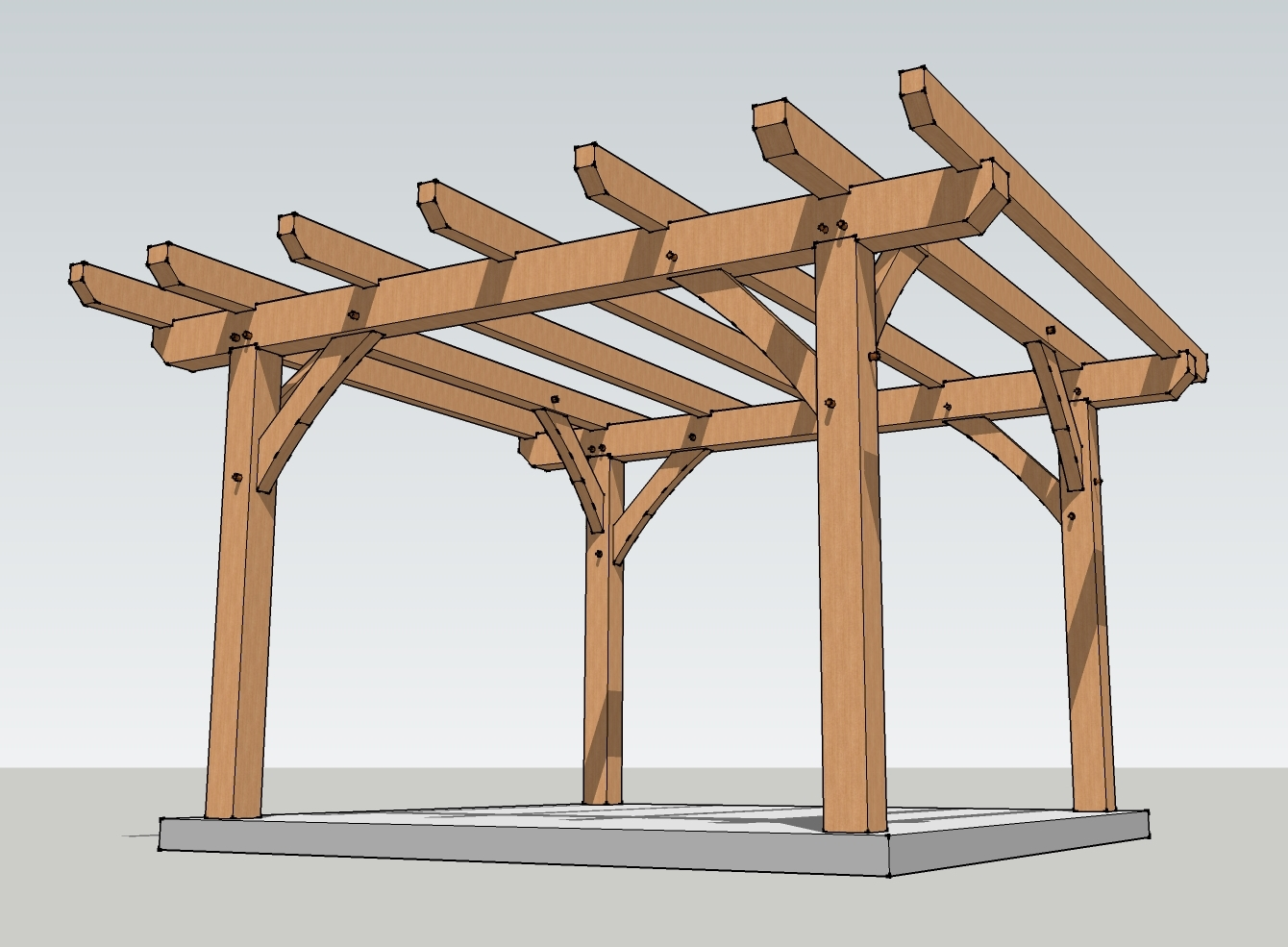tan pergola plans with grey floor ideas for backyard