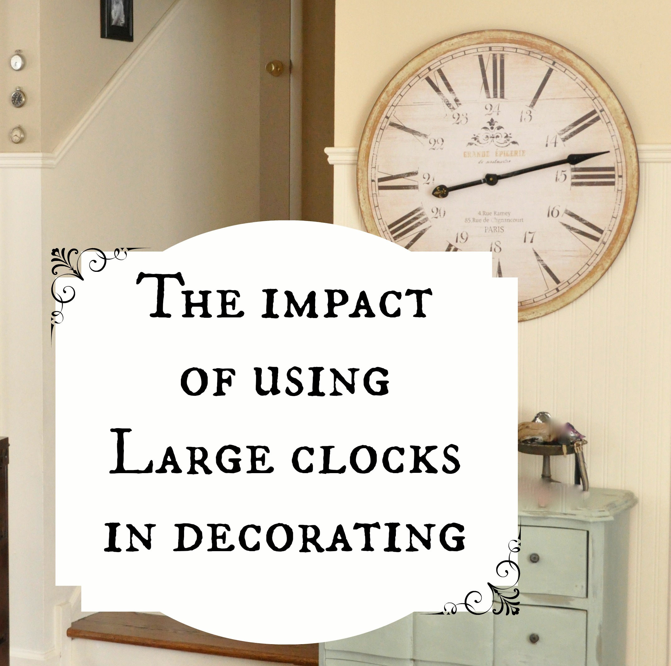 The Impact Of Using Oversized Wall Clock In Decorating Part 80