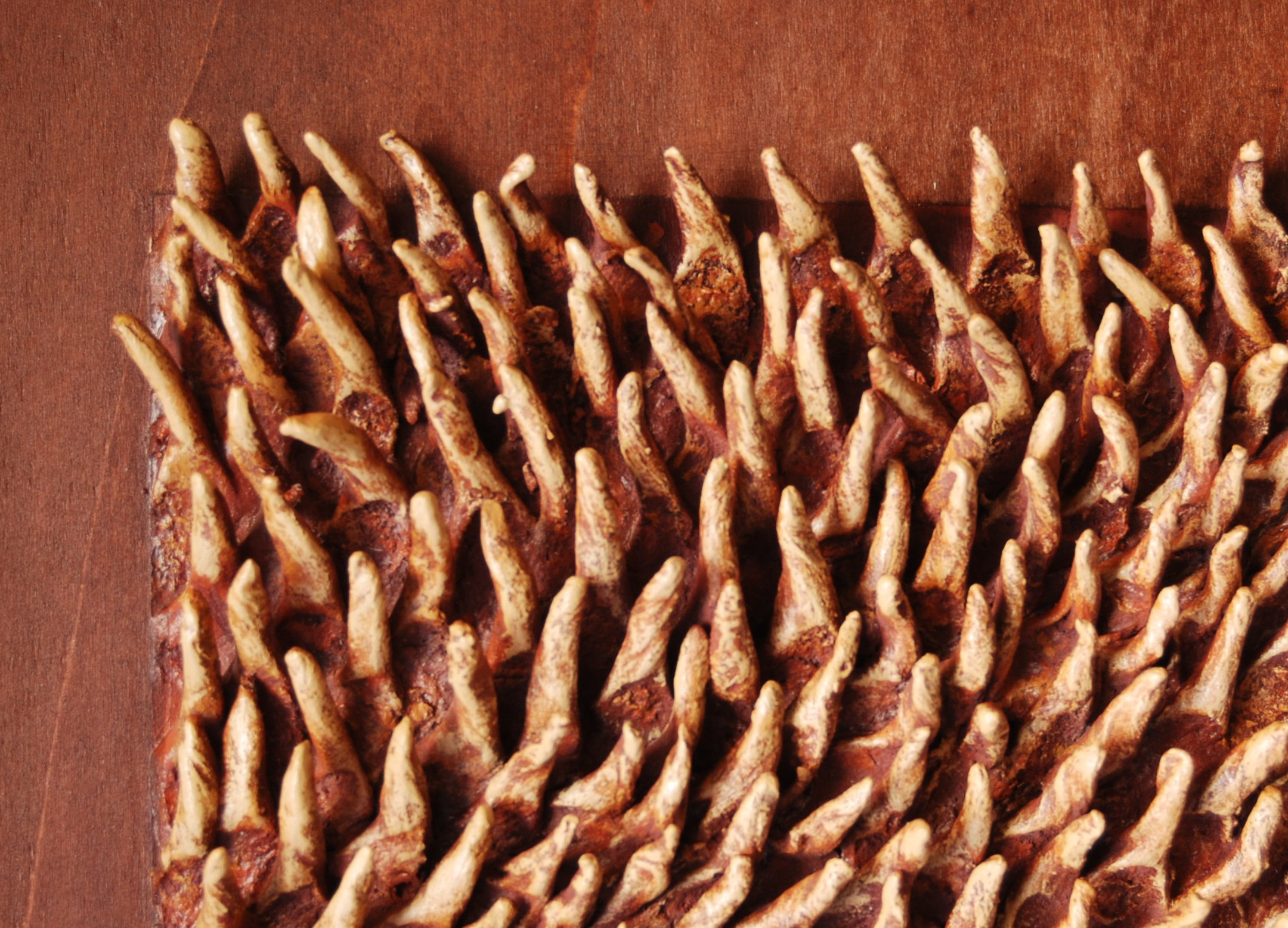 thorn design of textured wall panels in brown for inspiring wall ideas