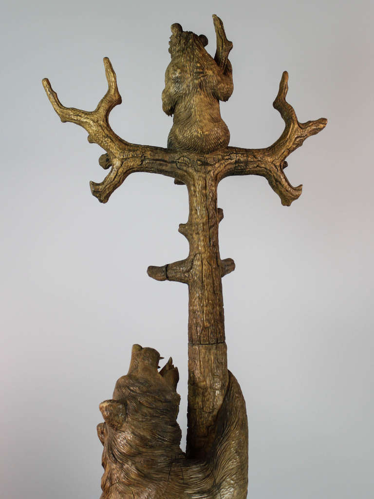 Tree design of standing Coat Rack with bear ornament