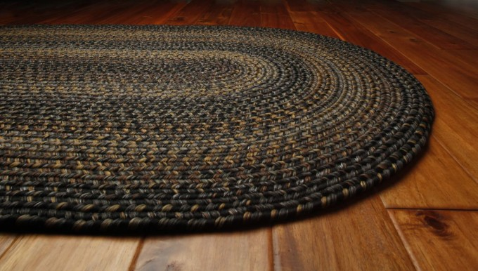 Ultra Durable Black Forest Braided Rugs In Oval Design For Inspiring Floor Decor Ideas