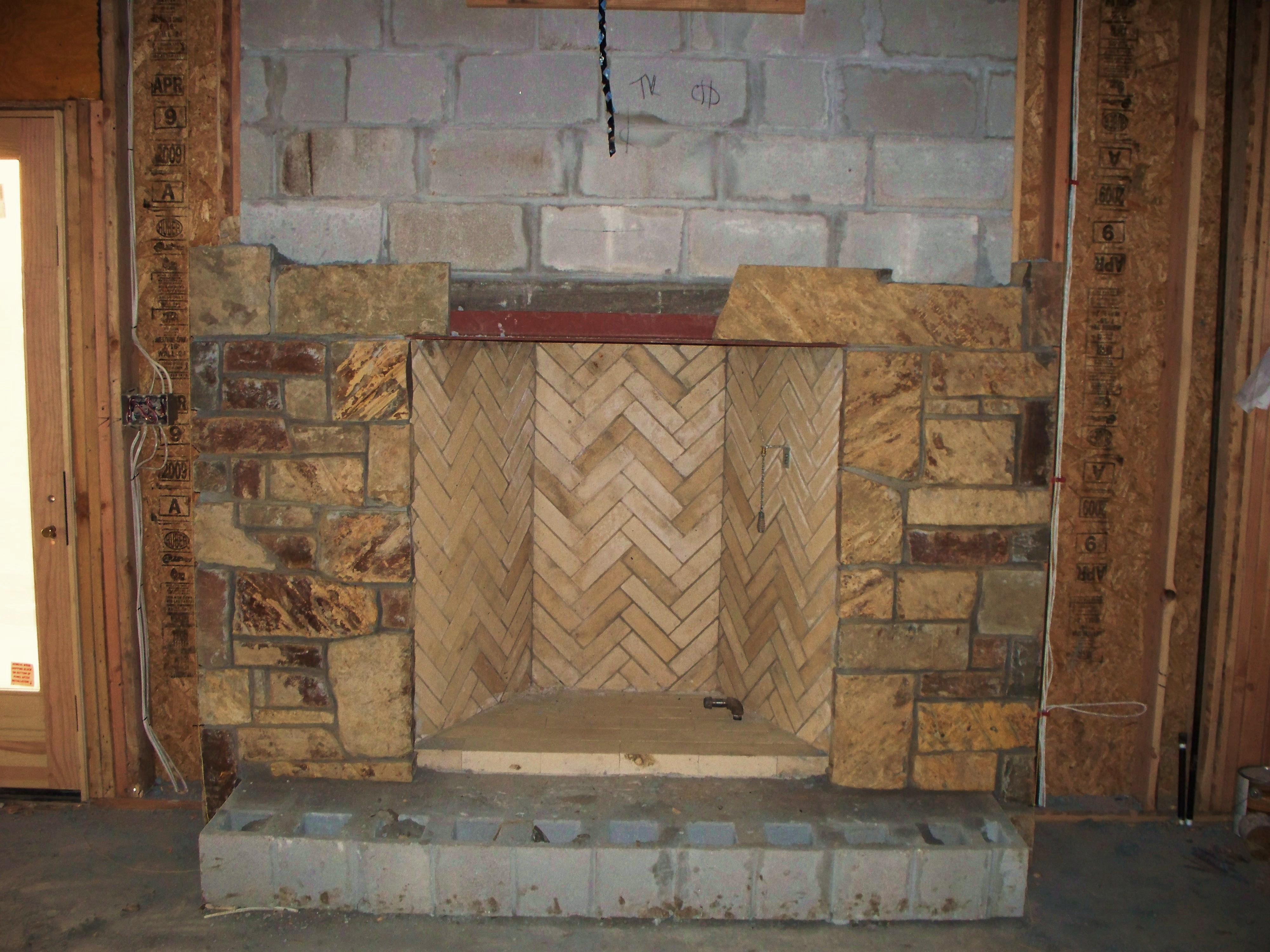 unfinished Rumford fireplace