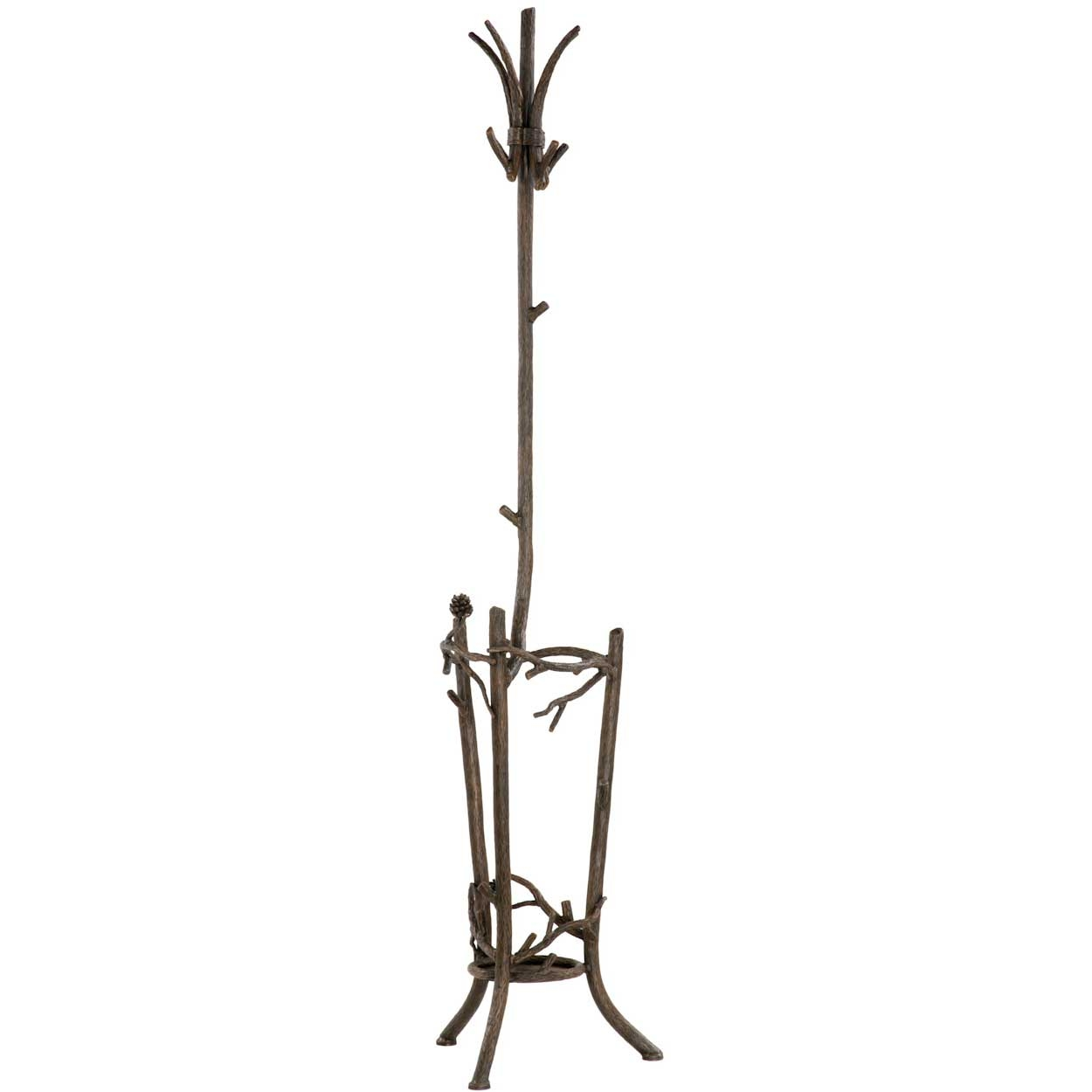 unique design of standing Coat rack with umberella stand and triple legs