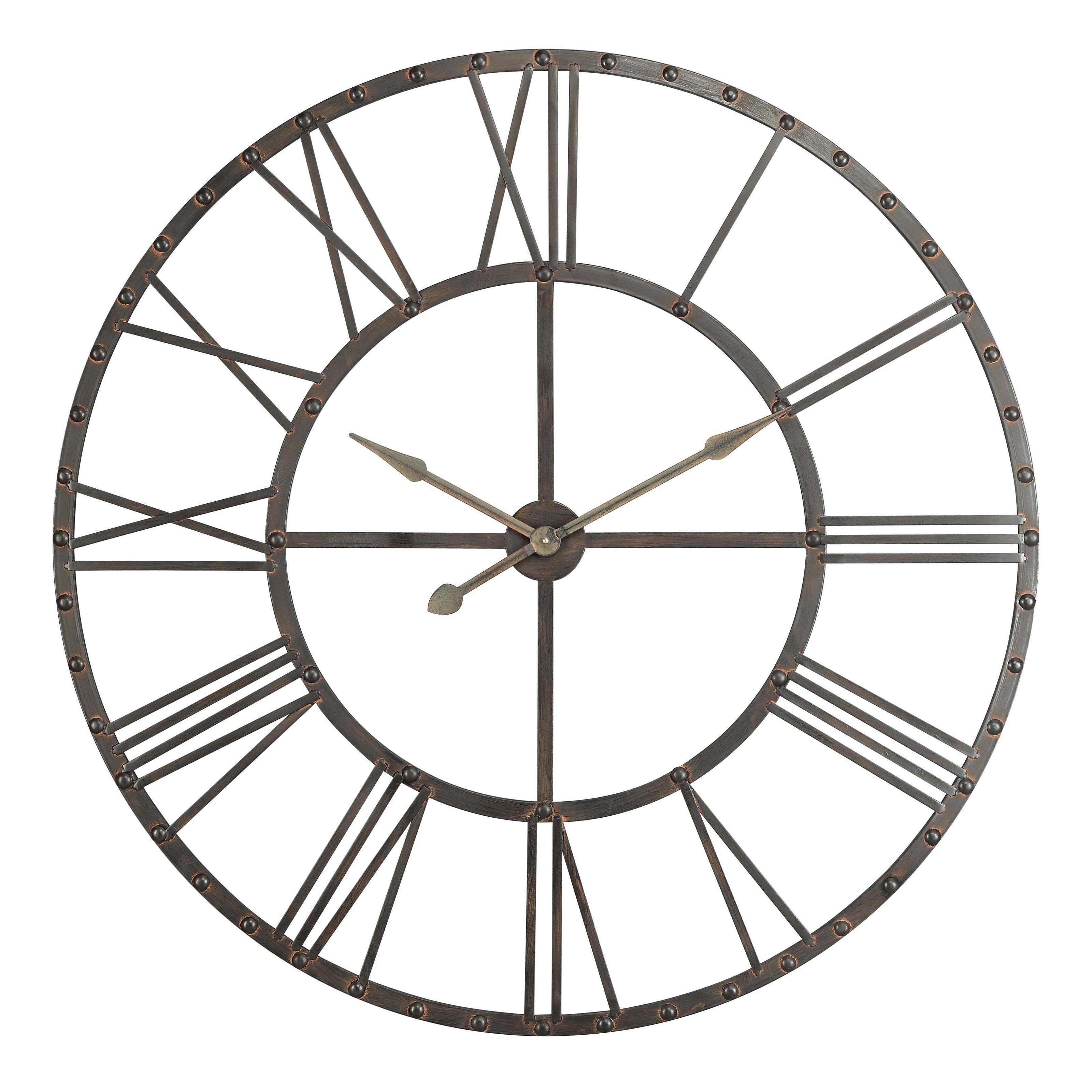 Furniture inspiring oversized wall clock for wall accessories upton oversized wall clock in black theme amipublicfo Images
