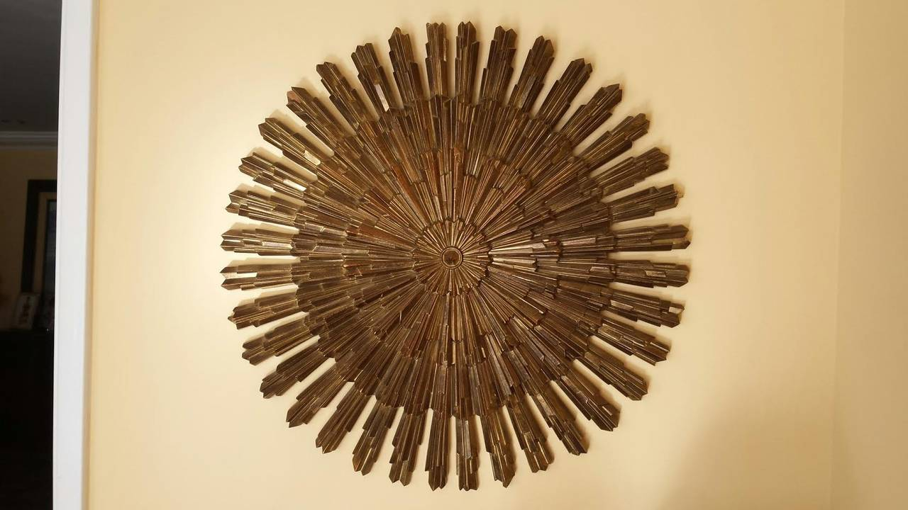 Vintage Wooden Starburst Wall Decor For Unique Wall Decor Ideas