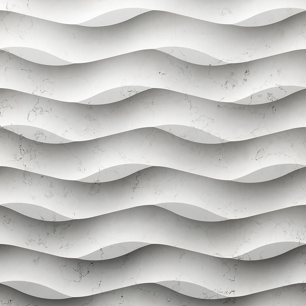 Wavy Textured Wall Panels in white for more beautiful wall ideas