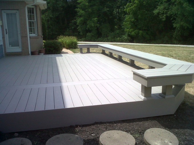 Wheat Azek Decking Plus Plus Wheat Launger As A Railing For Deck Ideas