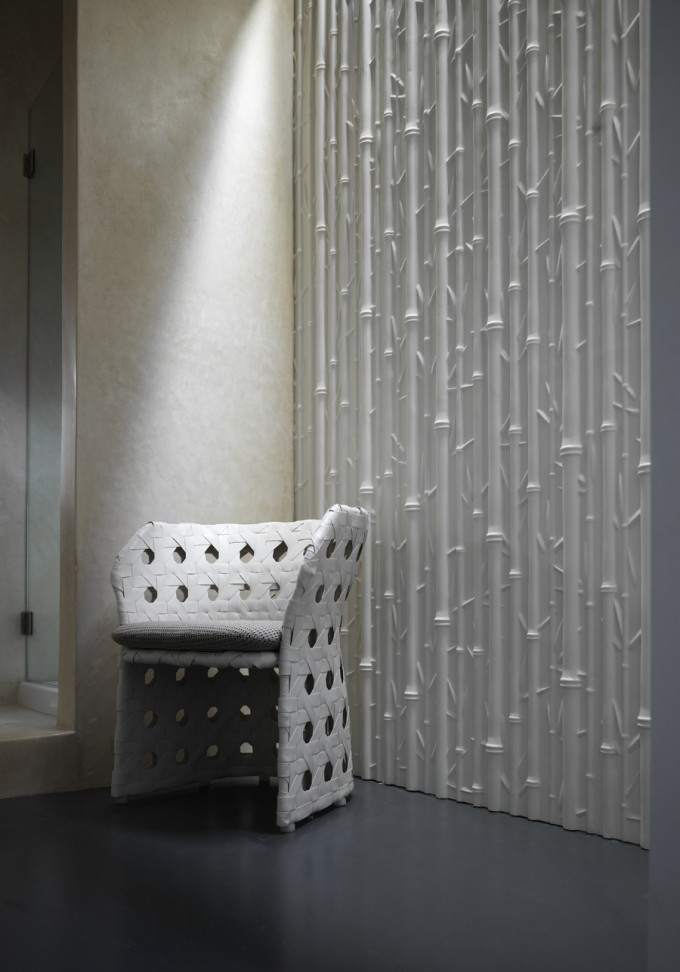 White Bamboo Pattern For Extraordinary 3D Textured Wall Panels For More Beautiful Wall Ideas