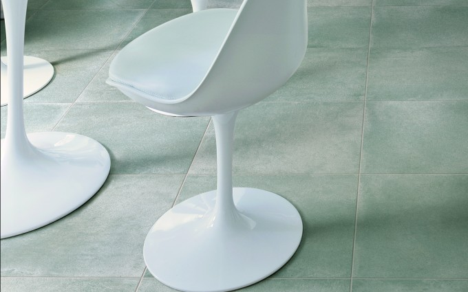 White Chairs On White Cancos Tile Ideas