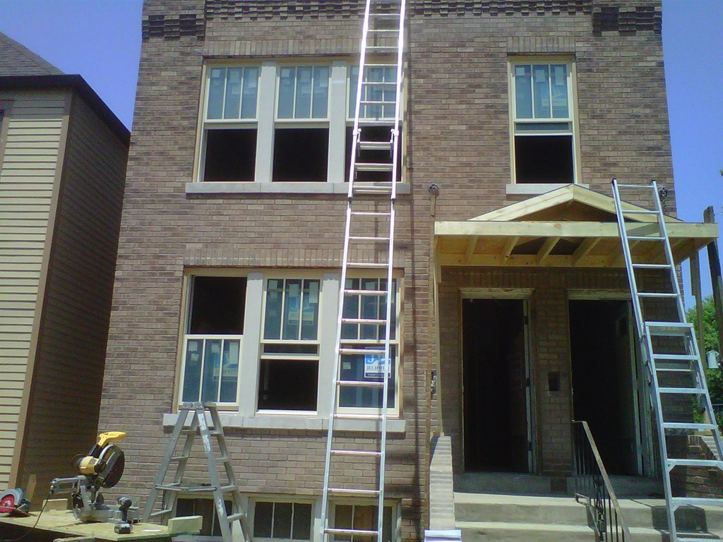 white double hungs pella windows matched with tan wall for exterior design ideas