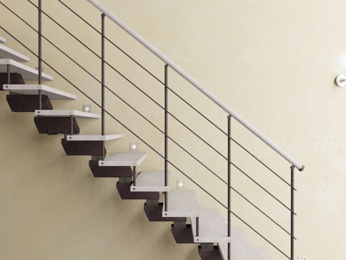 White Handrails For Stairs With White Treads Ideas With White Wall
