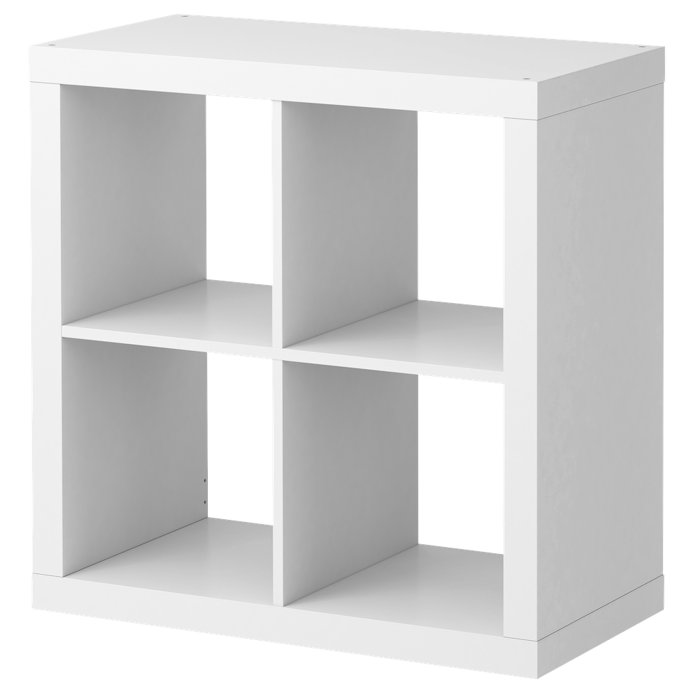 white ikea expedit bookcase with four spaces for smart furniture ideas