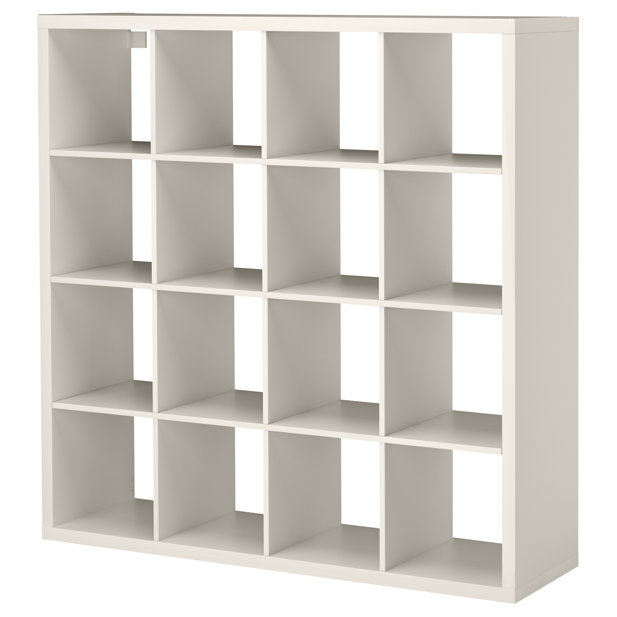 white ikea expedit bookcase with sixteen spaces for charming furniture ideas