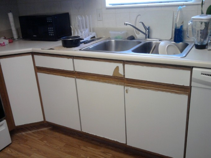 White Kitchen Cabinet Refacing Plus Sink With Kitchen Faucet With Single Handle Under The Window